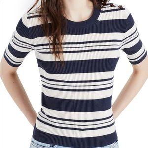 Madewell • Ribbed Half Sleeve Sweater Top
